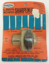 "Vintage New 1970's Coastal LM-1 Lawnmower Blade Sharpener for 1/4"" Shank Drill"