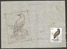 AITUTAKI COOK ISLANDS 1981 PRELIMINARY ARTWORK BIRDS 1c STURNUS Sc #215 FAUNA