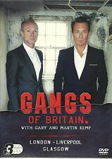 GANGS OF BRITAIN WITH GARY AND MARTIN KEMP - 3 DVDS, LONDON, LIVERPOOL & GLASGOW