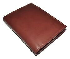 NEW ITALIA LEATHER MEN'S L FOLD RFID BLOCKING CREDIT CARD WALLET WITH ID TOFFEE