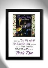 PRINCE Purple Rain Vinyl Album Limited Edition Art Print
