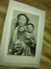 VINTAGE PRAYER BOOK CARD - OUR LADY - SCHWABISCH, c.1500  (attached to album pg)