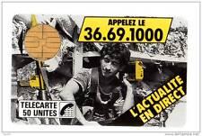 2 F2 - 05/1987 - TELECARTE 50 - L´ACTUALITE EN DIRECT Appelez le 36.69.1000