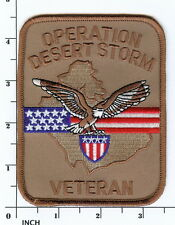 US Operation Desert Storm VETERANS tan PATCH ! Army/USMC/USN/USAF Persian Gulf !
