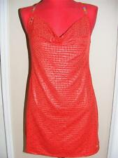 New COOGI Red swimsuit cover up mini dress S SMALL 2 4 6