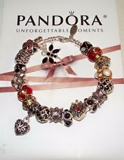 Authentic Pandora Sterling Silver Bracelet European Charms, Red Faberge Egg
