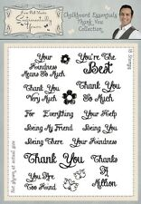 Phill Martin Chalkboard Essentials THANK YOU COLLECTION A5 Clear Stamp Set