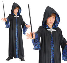 Childrens Wizard Robe Fancy Dress Harry Potter Magician Outfit Childs Kids XL