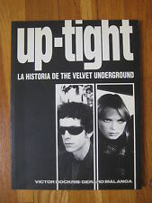 Spain 1st edition 1983 Up-Tight Historia de The Velvet Underground BOOK rare vtg
