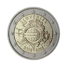 "Slovenia 2 Euro commemorative coin 2012 ""10 - years of Euro"" - UNC"