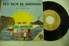 "LOU MATERA""MY SUN IS SHINING(O SOLE MIO)-disco 45 giri RCA Italy 1976"""