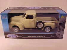 1953 Chevy 3100 Pickup Truck Die-cast 1:18 Welly 10 inch Cream White