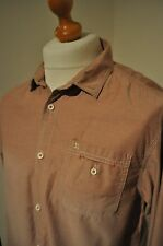 SCOTCH AND SODA DUSKY PINK DISTRESSED COTTON SHIRT SIZE XL