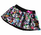 Baby Flower Sugar Skull Print Skirt, Punk, Rock, Goth, Rockabilly All Sizes