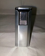 Hadson Lighter - Stylish Satin Chrome Jet Flame Gas Lighter