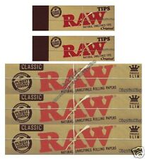 RAW KING SIZE HEMP ROLLING PAPERS AND RAW TIPS ROACH