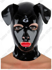 266 Latex Rubber Gummi Dog Puppy Mask Hood customized catsuit cosplay 0.7mm cool