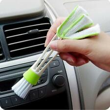 New Double Head Car Air Brush Air-condition Louver Instrument Cleaning Tool - LD