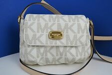 NWT MICHAEL KORS Jet Set Item PVC Vanilla Small Flap Crossbody Bag Purse