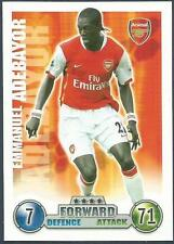 TOPPS MATCH ATTAX 2007-08-ARSENAL & TOGO-EMMANUEL ADEBAYOR
