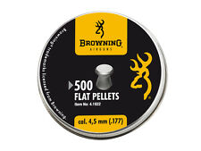 Umarex Browning FLAT PELLETS 4.5 .177 500 pcs. Air rifle Pellets Airgun pellets