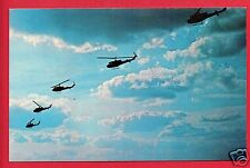 FORT RUCKER AL US ARMY AVIATION  UH-1 HELICOPTERS IN FLIGHT  POSTCARD
