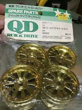 Vintage Original Tamiya QD Gold Mag Wheel Set (F&R) 43006