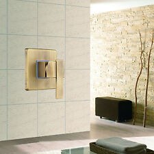 Wall-mounted Square Brass Bathroom Shower Mixer Valve Control Antique Brass