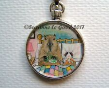 GUINEA PIG AND CAPYBARA KEYRING HANDBAG PET CARRIER CHARM BY SUZANNE LE GOOD
