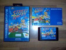 Jeu Sega Mega Drive - Street Racer / Ubi Soft 1994 Vintage 16-Bit Cartridge Rare