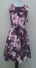 NWTD Modcloth Girl Twirl Dress in Burgundy Blossom Ixia Floral A-line Fits SMALL