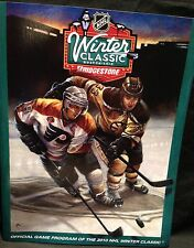 2010 NHL Winter Classic Hockey Program Boston Bruins/Flyers-Fenway Park