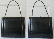 Vintage black Snake/Serpent/Slange Handbag/Sac à Main/Handtasche