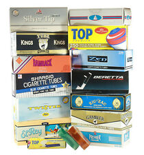 RYO/MYO Cigarette Tube Sampler LIGHT KING SIZE Gambler ElRey Gizeh (13 Cartons)
