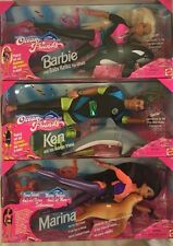 LOT OF 5 NRFB - ALL 3 BARBIE OCEAN FRIENDS & BOTH BARBIE & KEN BAYWATCH DOLLS!!!