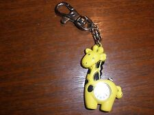 Dakota Yoshi Oshi Giraffe Charm Clip-On Key Ring Purse Watch