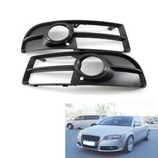 Front Lower Side Bumper Fog Light Grille Pair for Audi A4 B7 S-line S4 07-09
