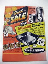 1952 Our Own Hardware Store Catalog Flyer - Bikes Appliances Guns