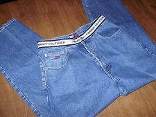VINTAGE 1990's TOMMY HILFIGER JEANS w/ spellout waist band 31 x 30