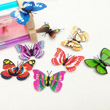 12Pcs 3D 2 Layers Butterfly Wall Stickers Fridge Magnet Wedding Home Decor Fairy