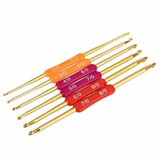 B3 Multicolor Aluminum Crochet Twin Needles Hooks Weaving Knitting Hooks Set