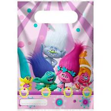 Trolls Party Bags - Plastic Girls Birthday Party Supplies Tableware Decorations