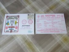 ARSENAL v BENFICA 1991 European Cup FOOTBALL First Day Cover