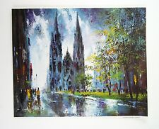 Vintage 1970's Jack Laycox Cologne Cathedral Germany Print