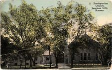 1915 JUNCTION CITY Kansas Kans Ks Postcard PRESBYTERIAN CHURCH K232