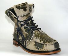 Sebago Kowloon Ankle Handsewn Moccasin Style Combat Camouflage Boots UK 8.5