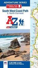 South West Coast Path North Cornwall Adventure Atlas by A-Z Maps, Paperback 2016