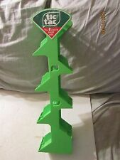 Vintage Tic Tac Green Plastic Store Display Stand