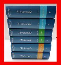 L'UNIVERSALE LE GARZANTINE 6 VOLUMI LETTERATURA ARTE FILOSOFIA