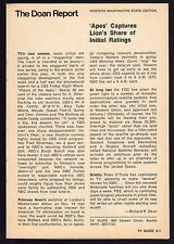1973 TV RATINGS ARTICLE~NEW SEASON~PLANET OF THE APES~PRINCESS ANNE'S WEDDING